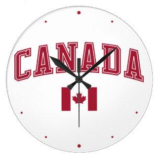Le Canada + Drapeau Grande Horloge Ronde