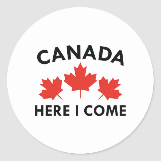Le Canada ici je viens Sticker Rond