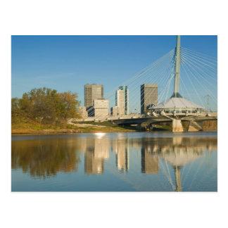 Le CANADA, Manitoba, Winnipeg : Esplanade Riel 2 Cartes Postales