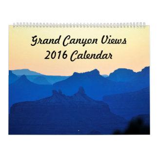 Le canyon grand regarde le calendrier 2016