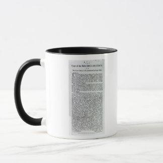 Le capitaine de la déclaration de foules mug