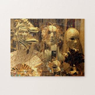 Le carnaval de Venise masque le puzzle horizontal
