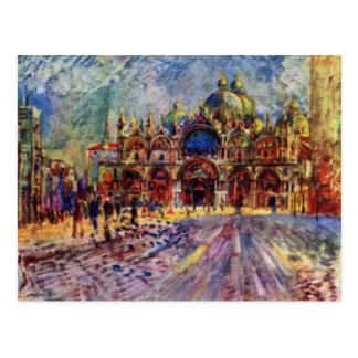Le carré de St Mark à Venise par Pierre-Auguste Carte Postale