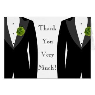 Le carte de remerciements de mariage de vert des