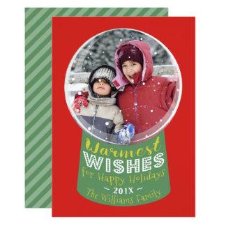 Le carte photo de Noël de souhaits le plus chaud