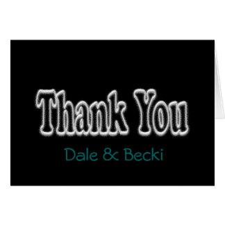 Le Carte pour notes noir de Merci personnalisent