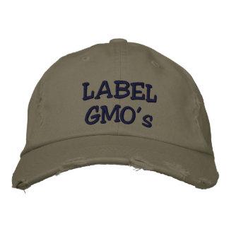Le casquette affligé par Embroadered de GMO