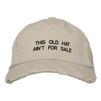 Le casquette avec CE VIEUX CASQUETTE N'EST PAS EN Casquettes Brodées