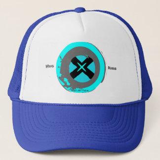 Le casquette bleu de Valentine d'étreinte et de
