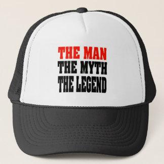 Le casquette de camionneur d'homme