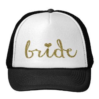 Le casquette du camionneur de jeune mariée