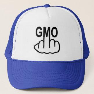 Le casquette indiquent non à GMO