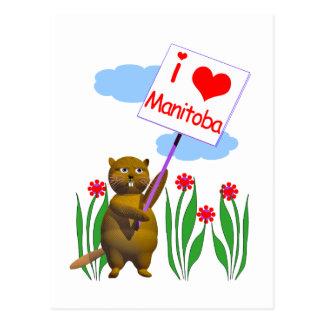 Le castor canadien aime Manitoba Cartes Postales