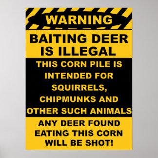 Le cerf commun de amorce de avertissement est illé posters