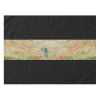 Le champ rouge de pavot de Monet fleurit la nappe