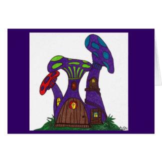 Le champignon pourpre loge la carte vierge