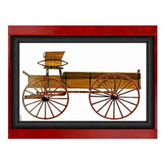 Le chariot de l'agriculteur carte postale