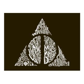Le charme   de Harry Potter DE MORT SANCTIFIE la Carte Postale