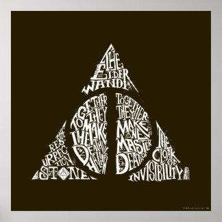 Le charme | de Harry Potter DE MORT SANCTIFIE la Poster