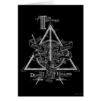 Le charme   de Harry Potter DE MORT SANCTIFIE le Carte De Vœux