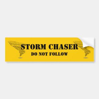 Le chasseur de tempête ne suivent pas autocollant de voiture
