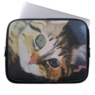 Le chat bigarré protection pour ordinateur portable