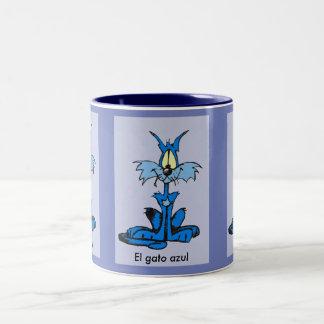 Le chat bleu tasse 2 couleurs