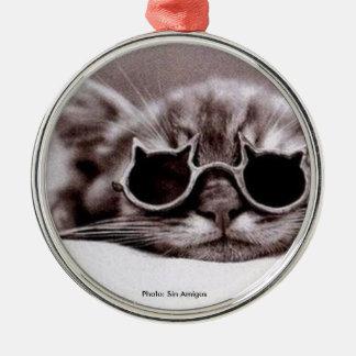 Le chat le plus frais vivant - ornement rond en