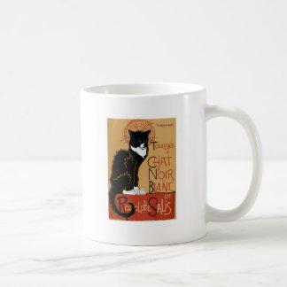 Le Chat Noir et côté de Blanc 2 Mug Blanc