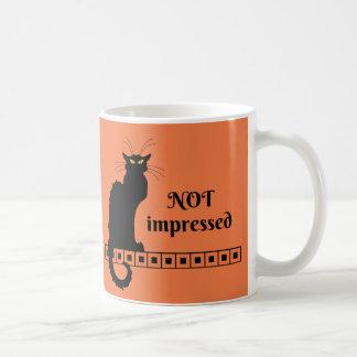 Le Chat Noir non impressionné Mug Blanc