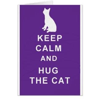 Le chat obtiennent la carte bonne