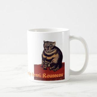 Le Chat Tigre ou chat tigré par Henri Rousseau Mug Blanc