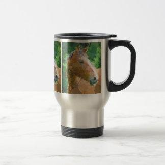 Le cheval génial entoure l'art moderne de bulles mug de voyage en acier inoxydable
