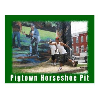 Le cheval vert de Pigtown de l'espace de Baltimore Carte Postale