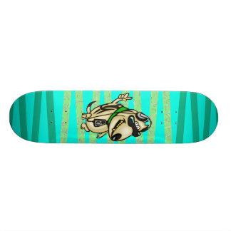 Le chien aime la musique skateboards