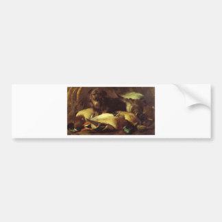 Le chien et le canard de Decoyman par Edwin Henry Autocollant De Voiture