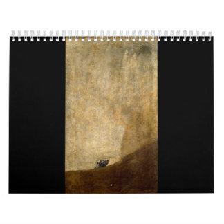 Le chien (peintures noires) par Francisco Goya Calendriers Muraux