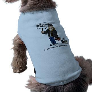 Le chienchien donnent la chemise t-shirt