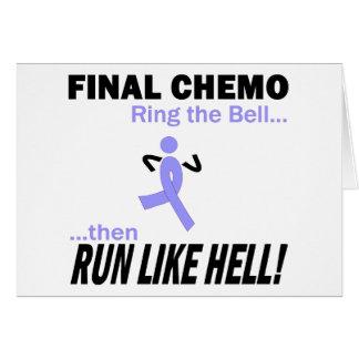 Le chimio final courent beaucoup - ruban de carte de vœux
