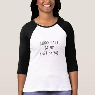 Le chocolat est mon meilleur ami t-shirt