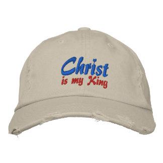 Le Christ est mon Roi Christian Embroidered Cap Casquettes De Baseball Brodées