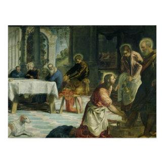 Le Christ lavant les pieds des disciples, c.1547 Carte Postale