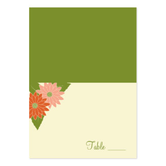 Le chrysanthème a plié la carte d'endroit - carte de visite grand format
