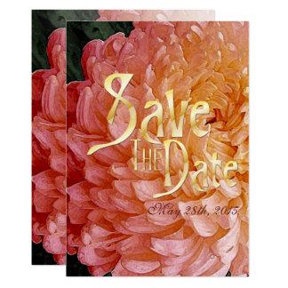Le chrysanthème rose d'aquarelle épousent des carton d'invitation  12,7 cm x 17,78 cm