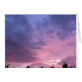 Le ciel carte de vœux