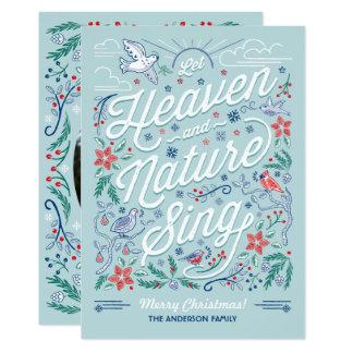 Le ciel et la nature chantent la carte de Noël 2