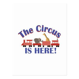 Le cirque est ici carte postale