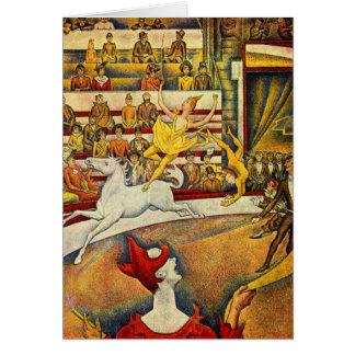 Le Cirque (le cirque) par Georges Seurat Carte