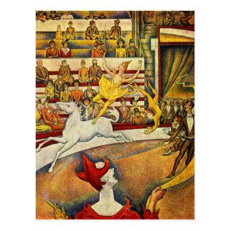 Le Cirque (le cirque) par Georges Seurat Carte Postale