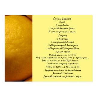 Le citron ajuste la carte postale de recette